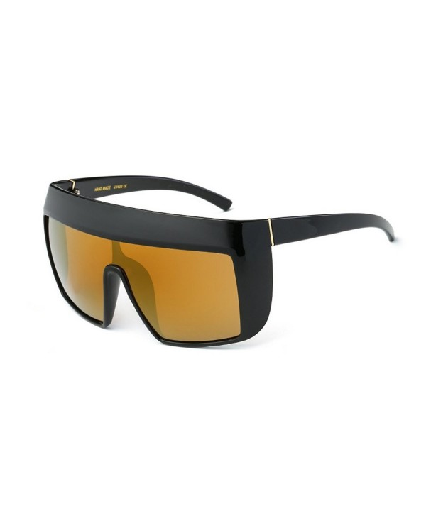 Oversized Protect Blowing Sunglasses black gold