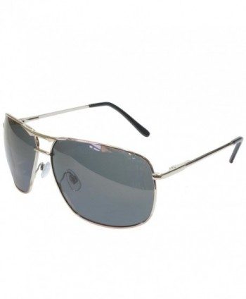 Polarized Square Aviator Sunglasses Silver