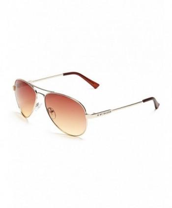 GUESS Womens Mirrored Aviator Sunglasses