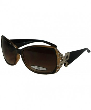 Bling Oversize Sunglasses Fleur Polycarbonate