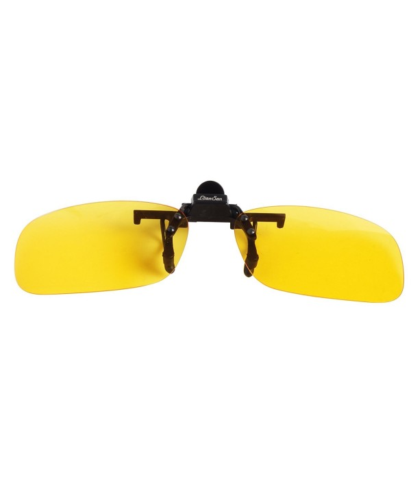 a034c7f262848 ... Sport Clip on Flip up Driving Sunglasses - Yellow Large - CE11EYLAZH5.  LianSan Mirrored Rectangle Sunglasses Polarized