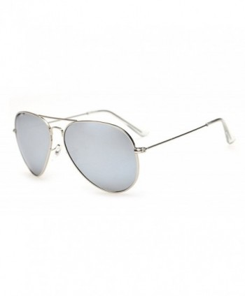 Laura Fairy Mirrored Polarized Sunglasses silver