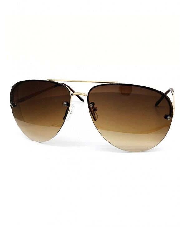 O2 Eyewear Teardrop Rimless Sunglasses