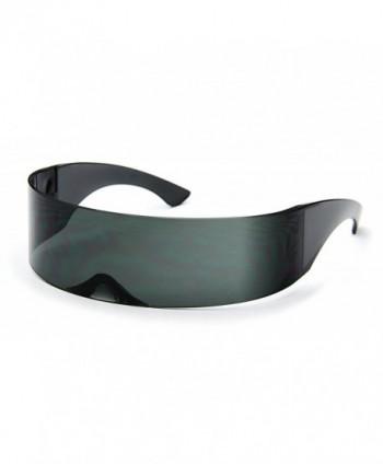 3902f6522ad93 Futuristic Shield Sunglasses Monoblock Cyclops 100% UV400 - Black ...