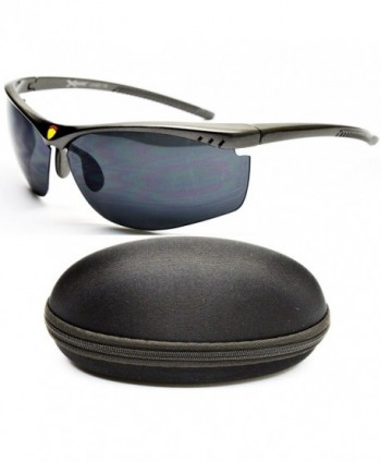 X384 cc Xsportz Rimless Sunglasses Gunmetal Dark