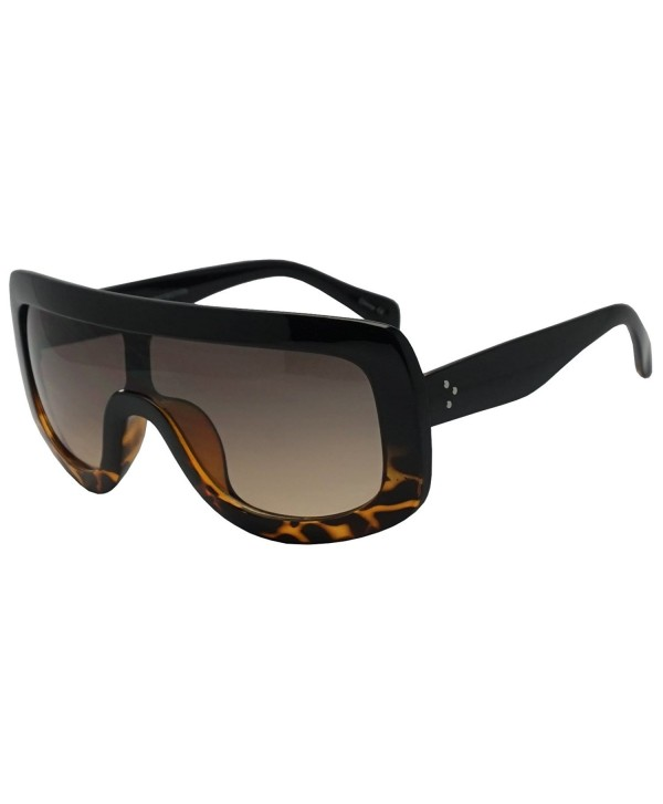 Shield Transparent Gradient Sunglasses Tortoise