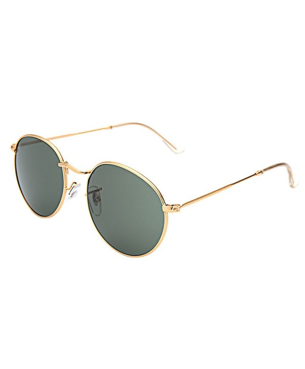 2d6faef49c ... Classic Metal Frame Round Circle Mirrored Sunglasses Men Women Glasses  3447 - Z-green - CT12JPLNI05. LianSan Classic Mirrored Sunglasses Glasses