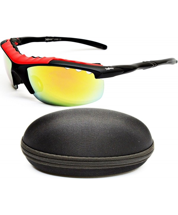 X438 cc Xsportz Sport Sunglasses Red Mirror