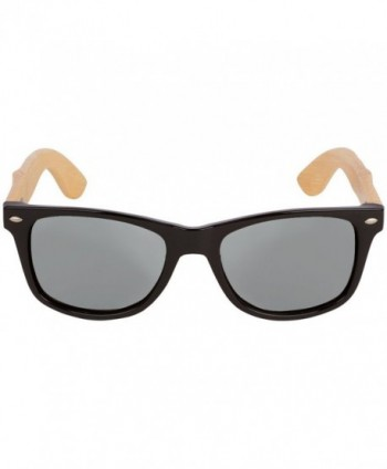WOODIES Bamboo Sunglasses Silver Mirror