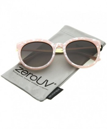 zeroUV Oversized Sunglasses Pink Gold Lavender
