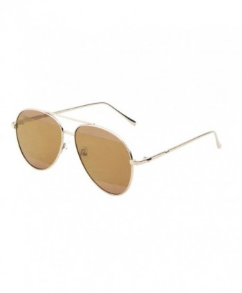 Aviator Sunglasses Mirror Runway Fashion