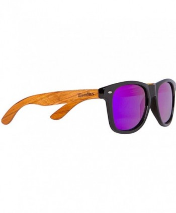 WOODIES Zebra Sunglasses Purple Mirror