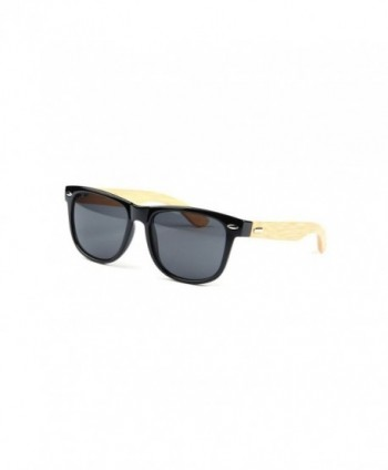 Wayfarer Sunglasses Bamboo Temples Mirrored