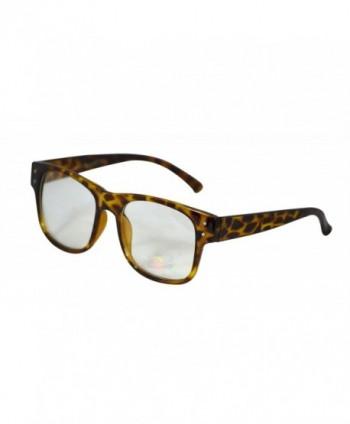 Horned Classic Glasses Square Tortoise