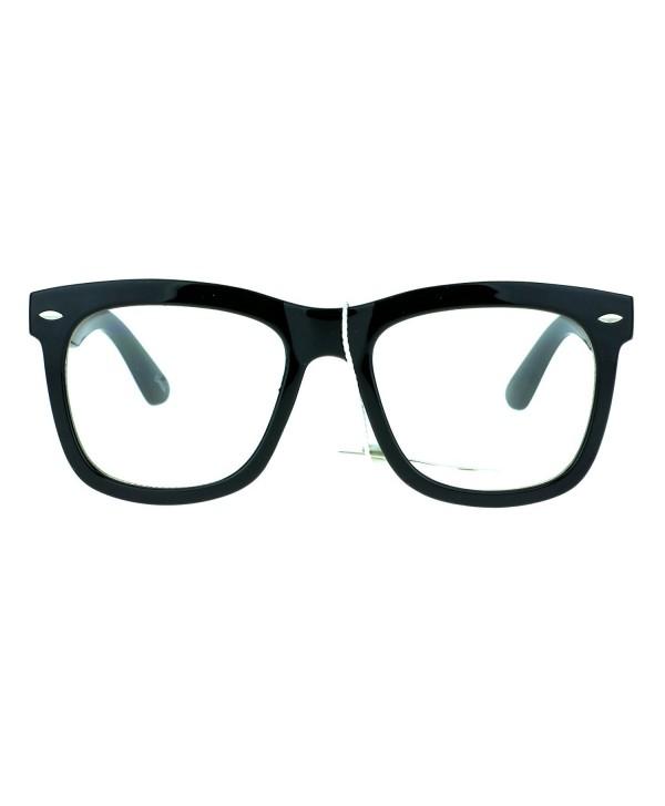 Trendy Oversize Hipster Plastic Glasses