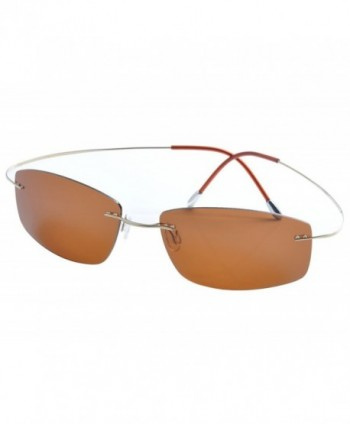 Ding rimless titanium polarized Sunglasses