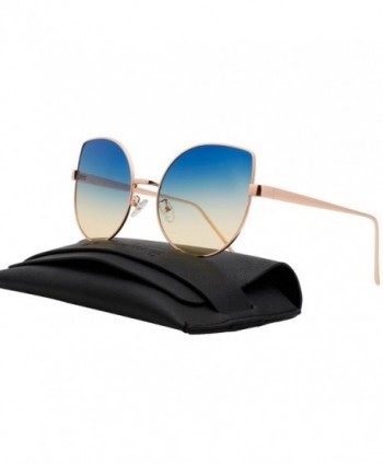 VIVIENFANG Mirrored Oversized Sunglasses 86931D