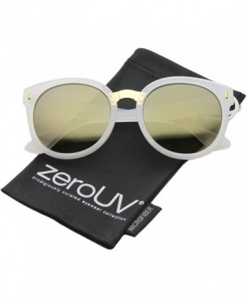 zeroUV Fashion Oversize Sunglasses White Gold