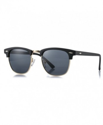 AZORB Polarized Semi Rimless Clubmaster Sunglasses