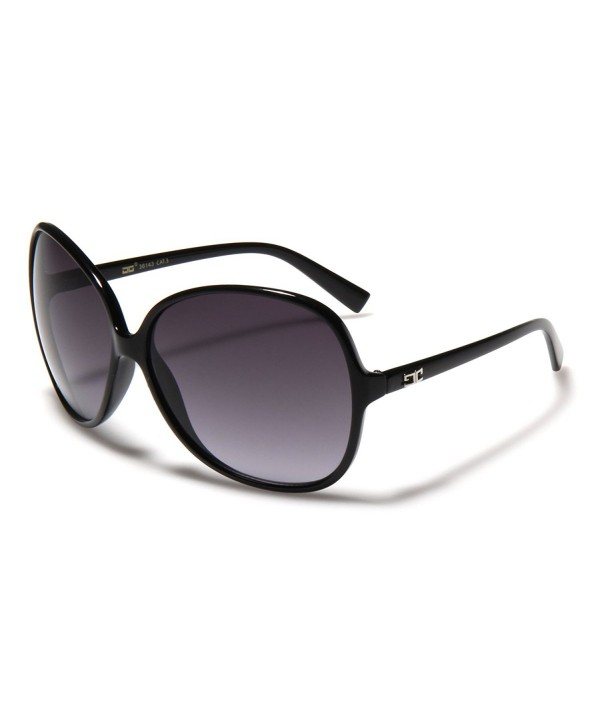 1a94cdc6c4fd8 Oversized Frame Women s Round Butterfly Shape Sunglasses - Black ...