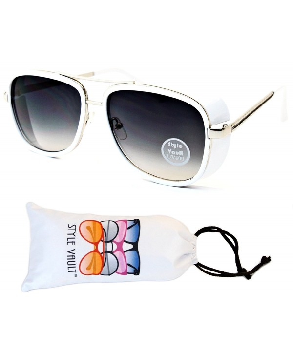 Style Vault Steampunk Sunglasses Silver Smoked
