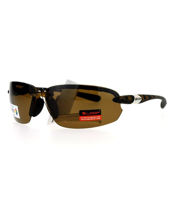 Polarized Sunglasses Rimless Rectangular Tortoise