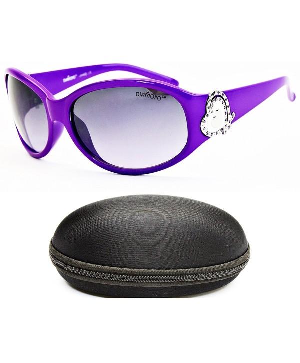 Diamond Eyewear Rhinestones Sunglasses Purple Smoked