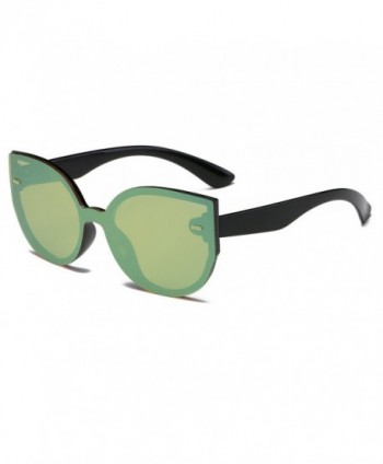 Amomoma Rimless Sunglasses Oversized Mirrored