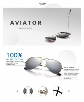 cb58bba6339 Men Aviator Sunglasses Polarized - UV 400 Protection with case 60MM ...