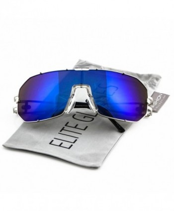 Elite Oversized Aviator Mirrored Sunglasses