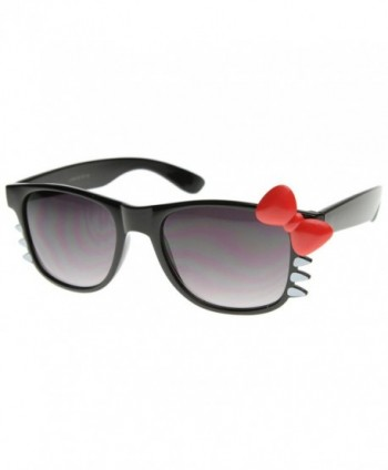 zeroUV Fashion Sunglasses Whiskers Red Bow