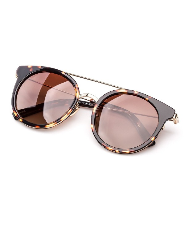 a6a473b617 ... Women Hand Made Acetate Round Frame With Polarized Lens - Tortoiseshell  - C312NZNYML4. Colossein Fashion Sunglasses Polarized Tortoiseshell
