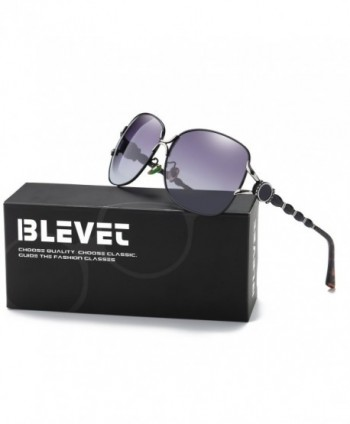 BLEVET Polarized Oversized Sunglasses Gradient