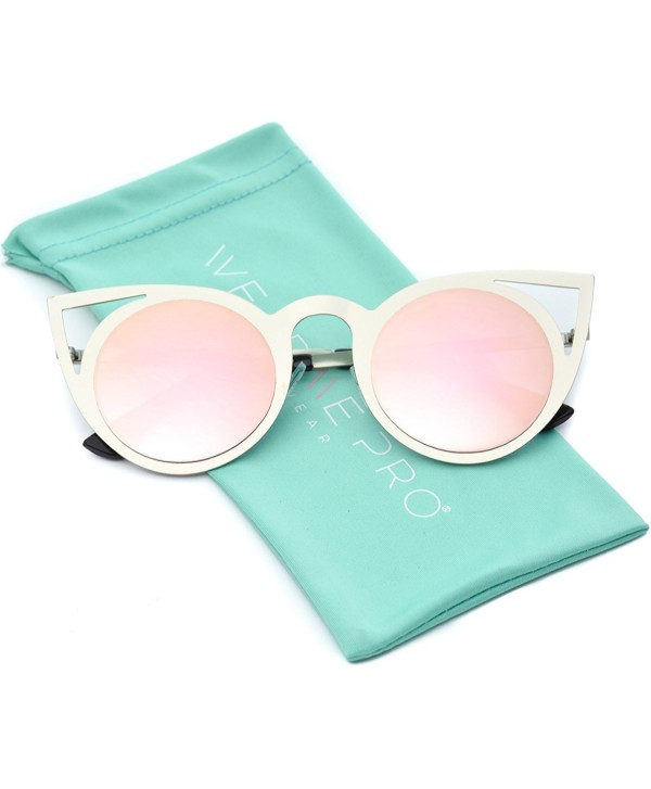 16028afa4596a Womens Cateye Retro Fashion Retro Round Lens Cat Eye Sunglasses ...