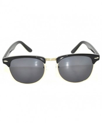 3c14061392 Classic Sunglasses Black Gold Metal Stylish  Semi-rimless sunglasses ...