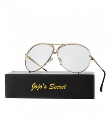 JOJOS SECRET Aviator Sunglasses Clear