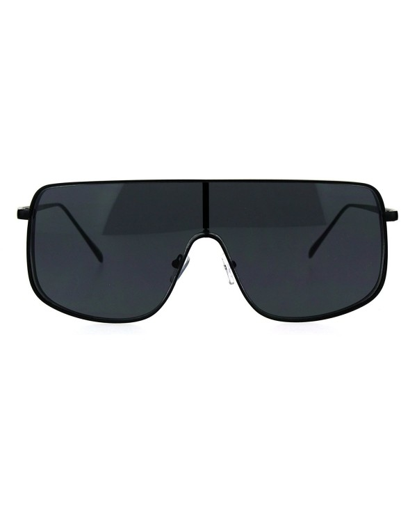 Oversized Futurism Robotic Shield Sunglasses