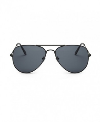 Coolsunny Classic Aviator Sunglasses Black Gray