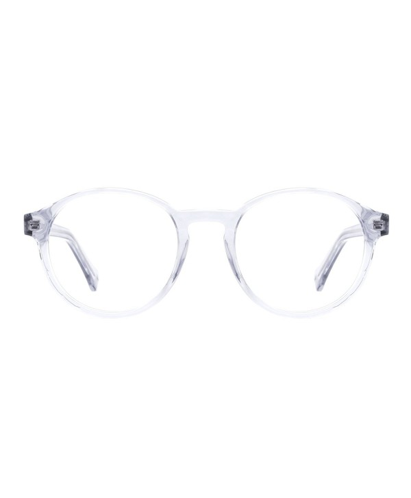 531885d2fa Acetate Translucent Clear Glasses Frames Eyeglasses for Women - D ...