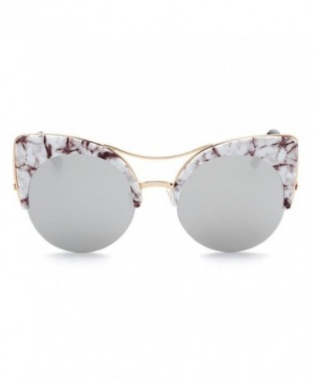GAMT Oversized Sunglasses Mirrored Silver