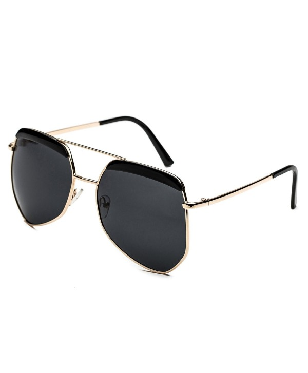 CHB Polarized Oversized Mirrored Sunglasses