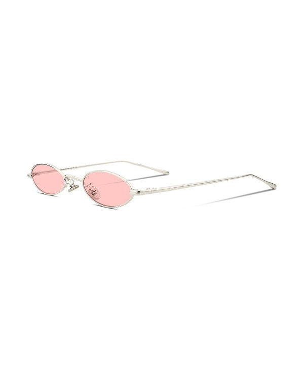 55fc721267 Vintage Slender Oval Sunglasses Small Metal Frame Candy Colors B2277 ...