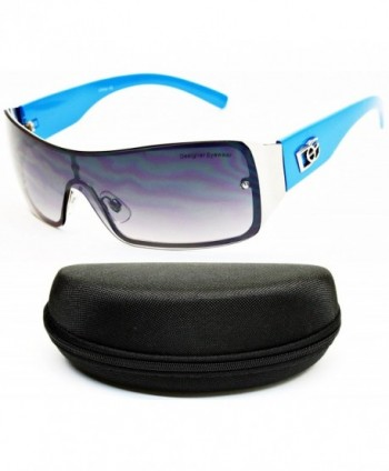 Designer Diamond Eyewear Sunglasses Blue Smoked
