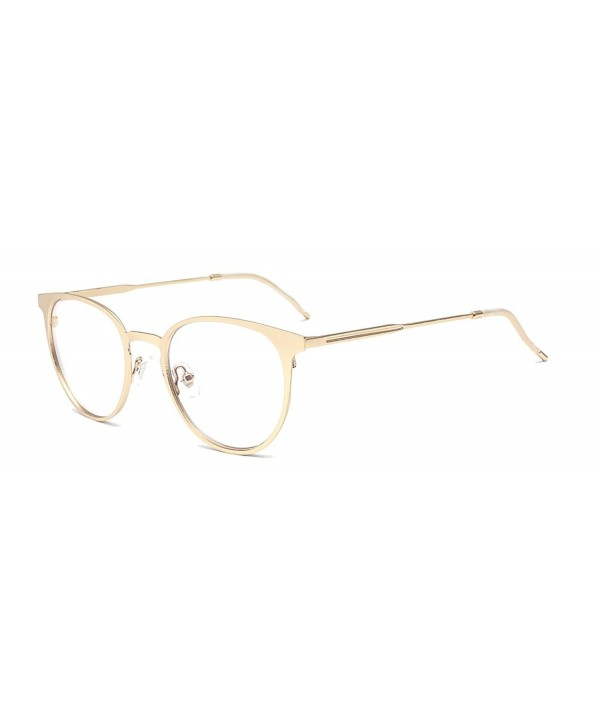 a733f5119d Vintage Metal Frame Aviator Clear Lens Glasses Optical Prescription ...