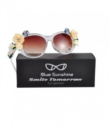 Sunglasses Oversized Glasses Flowers Protection