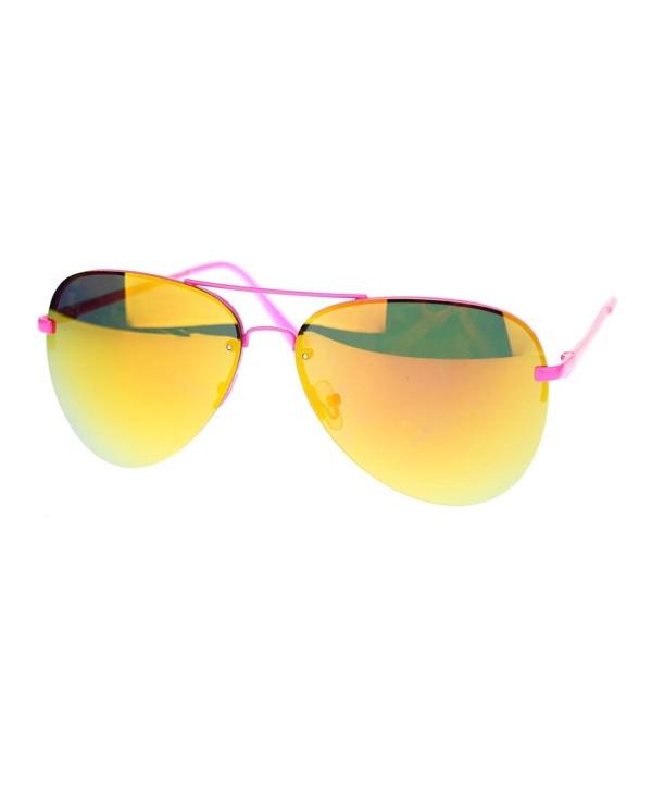 Rimless Aviator Sunglasses Mirror Spring
