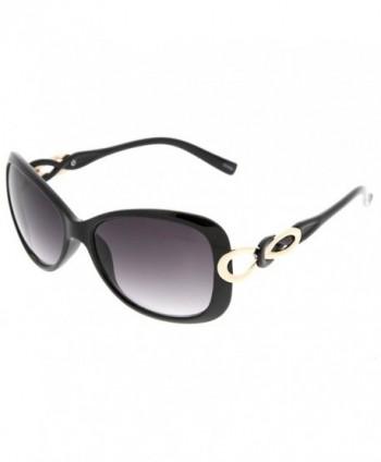 zeroUV Fashion Bow Tie Sunglasses Black Gold