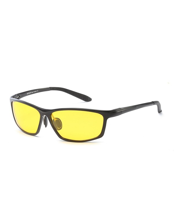 89cbd681311 Men s Hot Yellow Lens Night Vision Comfortable HD Driving Sun ...