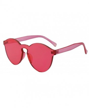 Colorful Oversize Rimless Sunglasses Transparent