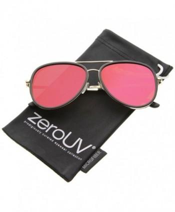 zeroUV Mirrored Two tone Sunglasses Black Gold